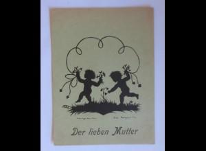 Scherenschnitt, Der Lieben Mutter, 1946, E.Irmgard, Handgeschnitten ♥ (35013)