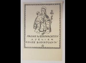 Ex Libris, Weihnachten, 1938, Originale Renee Boeckmann ♥