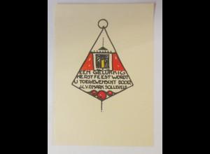 Ex Libris, Neujahr, ca.1930, Originale V.d. Mark Solleveld ♥