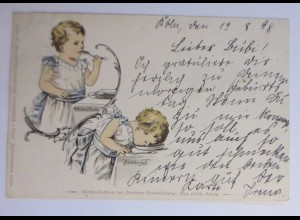"""Kinder, Essen, Suppe"" 1898 ♥"