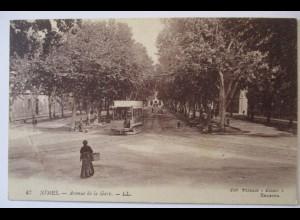 Frankreich, Nimes, Avenue de la Gare, Strassenbahn