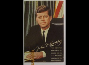 USA Präsident JFK Kennedy, Ask not what your country can do for you... (41030)
