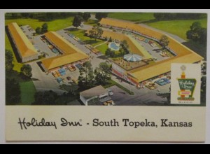 USA, South Topeka Kansas, Hotel Holiday Inn ca. 60er Jahre (65995)