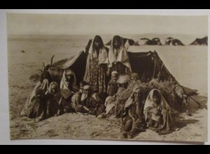 Ägypten Typen Araber Araberfamilie, Fotokarte 1936 (7416)