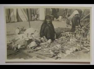 Ägypten Typen Markt Werkzeuge Verkäuferin, Fotokarte 1936 (42788)