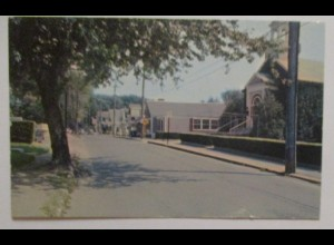 Wellfleet Cape Cod, Shopping District, Church 1966 (38845)