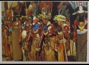 Papua Neu Guinea, Indianer im Mount Hagen District, Fotokarte (8069)