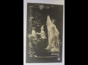 Jugendstil, Zwerge, Kinder, Frauen, Mode, 1904 ♥ (49668)