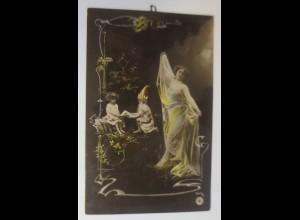 Jugendstil, Zwerge, Kinder, Frauen, Mode, 1905 ♥ (61089)