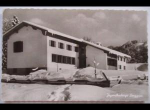 Lenggries, Jugendherberge, Fotokarte 1965 nach Altdorf