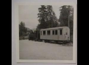 Österreich Bad Ischl Ischlerbahn, Lok + Wagen, original Foto 1966 (17989)