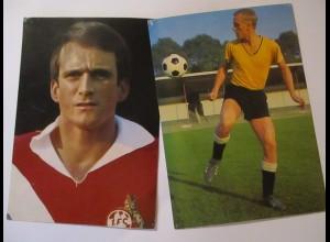 Fußball, 16 Aral Karten 1966 u.a. Netzer Sieloff Held Haller usw. (26256)