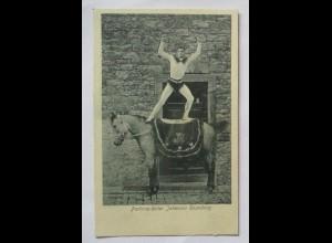 Zirkus Reiten Pferd Parforce-Reiter Johannes Rosenberg, Verlag Feist Mainz (812)