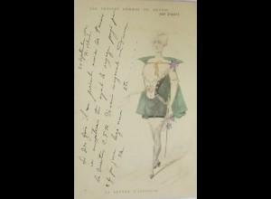 Künstlerkarte, Mode, 1900,sig. par Japhet, La Lettre du Pays ♥ (15406)