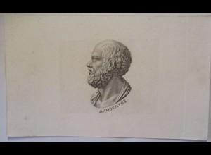 Philosophie Griechenland Demokritos, Druck ca. 1850 (18025)