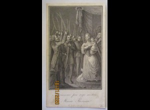 Österreich Maria Theresia, Druck Kupferstich ca. 1850 (48180)