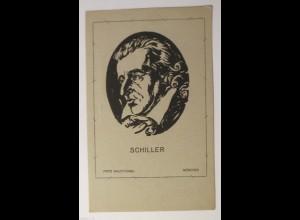 Scherenschnitt, Schiller, 1940, Fritz Wolfhügel ♥ (28191)