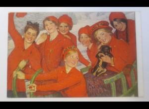 Künstlerkarte, Rote Sieben, Dackel, Studentika, 1910, S. Reiche ♥ (15208)