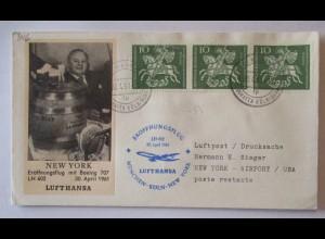 Berufe Flugbegleiter Lufthansa Bier Fass, Erstflug 1961 (5876)