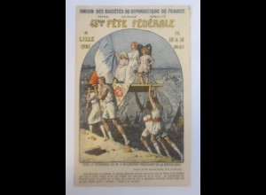 Turnen, Bundesfeiertag Verband der Französischen Turnvereine Lille 1921♥ (73166)