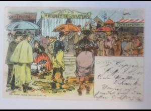 Gruß von Leipzig, Kirmes, Rummelplatz, Schützenfest, 1901 ♥ (43240)