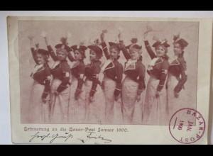 Variete Frauen Tanzgruppe Bazar Post München 1900 (44078)