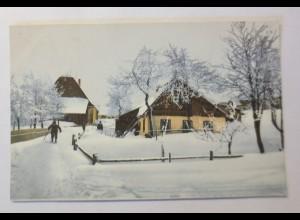 Photochromie, Winterlandschaft, Dorf, 1910 ♥ (65998)