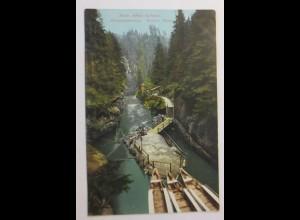 Photochromie, Sächs.-Böhm. Schweiz. Edmundsklamm. Breiter Stein, 1910 ♥ (51855)