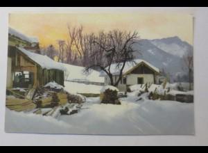 Photochromie, Winterlandschaft, Dorf, 1910 ♥ (33328)