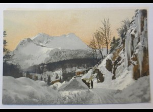 Photochromie, Winterlandschaft, Berge, Abendrot, 1910 ♥ (54631)