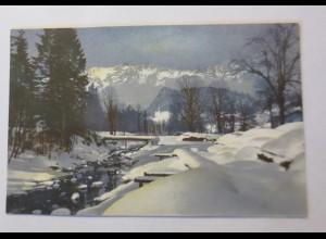 Photochromie, Winterlandschaft, Berge, 1910 ♥ (21275)