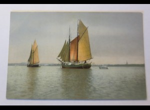 Photochromie, Segelschiff, Meer, 1910 ♥ (50354)
