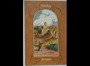 Deutsche Burgen, Rudelsburg, Studentenfahrt ca. 1910 (68721)