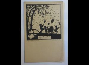 Scherenschnitt, Aprilwetter, 1929 ♥ (38764)