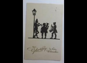 Scherenschnitt, Geburtstag, Männer, Posaunenchor, 1930 ♥ (57240)