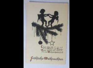 Scherenschnitt, Weihnachten, Engel, 1913 ♥(49583)