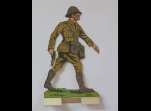 Oblaten, Soldat zum Aufstellen, 6,5 cm x 10 cm ♥