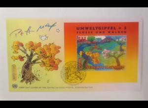 UNO Wien Umweltgipfel Flüsse und Wälder 1997 FDC ♥ (48196)