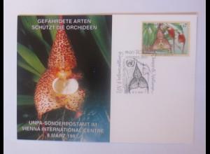 UNO Wien Gefährdeten Arten Orchideen 1997 Maximumkarte ♥ (8140)