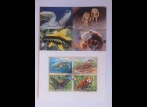 UNO Wien Gefährdeten Arten 1998 Maximumkarte Nr.55 ♥ (4508)