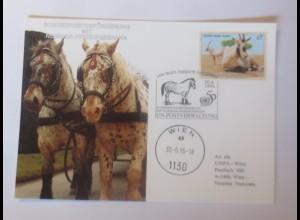 UNO Wien Noriker-Pferdegespann 1995 Maximumkarte ♥ (46688)