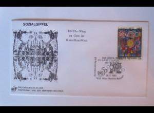 UNO Wien Sozialgipfel Kunsthaus Wien 1995 FDC ♥ (32831)