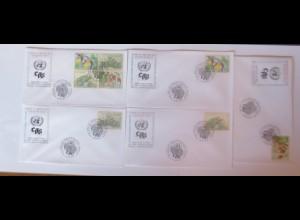 UNO Wien Gefährdete Arten 1996 FDC ♥ (39283)