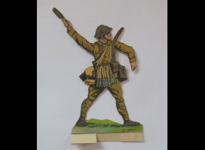 Oblaten, Soldat zum Aufstellen, 12 cm x 6,5 cm ♥ (35446)