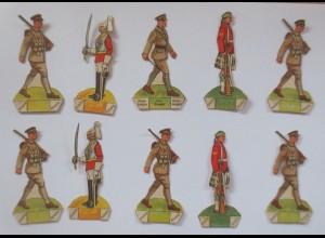 Oblaten, 10. Soldat zum Aufstellen, 7 cm x 3 cm ♥ (35542)