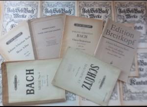 18 Notenhefte aus dem Jahre ca.1950 Johann Seb. Bach siehe Beschreibung ♥