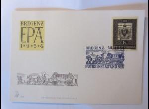 Österreich Bregenz Postdienst Alt und Neu 1954 Sonderstempel ♥ (12184)
