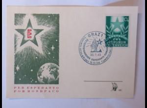 Österreich Graz Esperando Kongress 1949 Sonderstempel ♥ (11054)