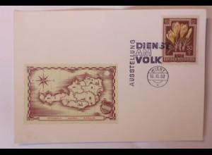 Österreich Wien Ausstellung Dienst am Volk 1952 Sonderstempel ♥ (37406)