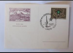 Österreich Wien Esperando Kongress WIPA 1965 Sonderstempel ♥ (37339)